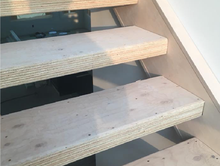 Close Up of Custom Built Stairs