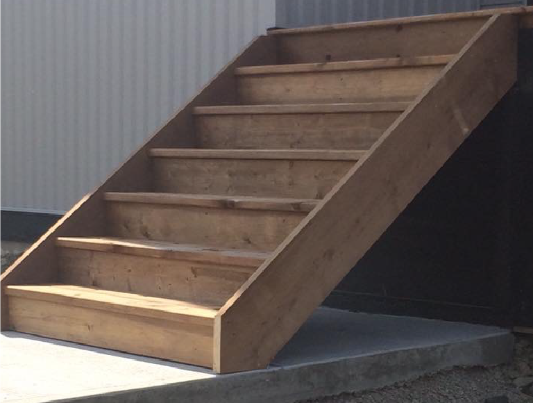 Simple Exterior Deck Stairs