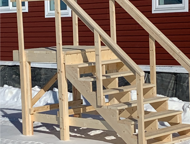 Exterior Stairs with Landing