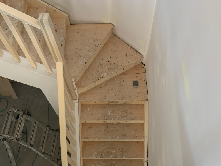 Angled Landing Interior Stairs