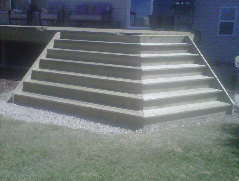 Exterior Angled Deck Stairs