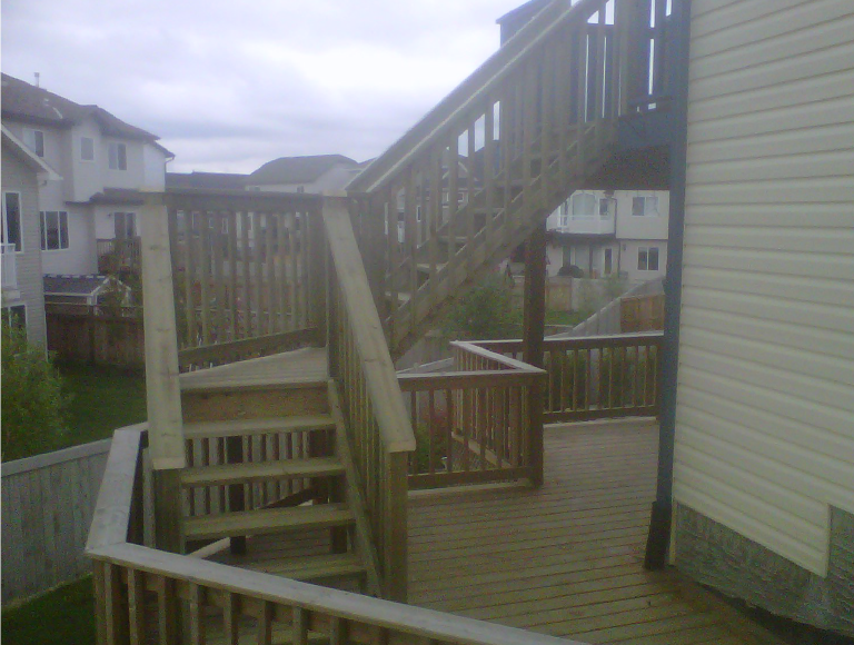 Exterior Deck Stairs with Winder and Landing