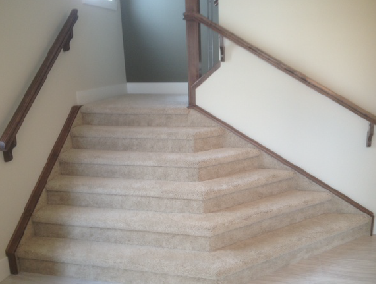 Interior Angled Stairs Project